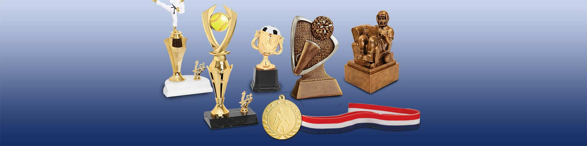 Sports Awards Trophies, Medals, Cups and Ribbons